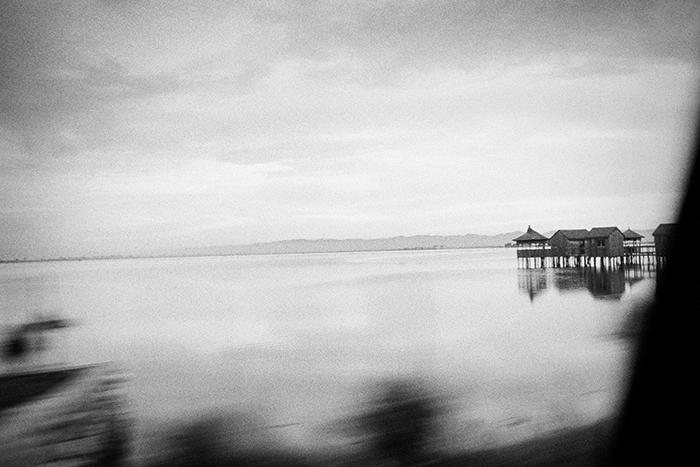 Ristorante sulla laguna di Patok. Albania 2013